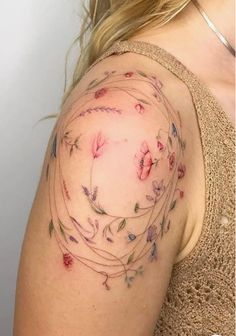 40 Elegant Flower Body Tattoos with Roses, Daisies and Lotus – The First-Hand Fashion News for Females – tattoos for women small Small Flower Tattoos, Flower Tattoo Arm, Flower Tattoo Shoulder, Small Arm Tattoos, Floral Arm Tattoo, Small Colorful Tattoos, Colorful Flower Tattoo, Tattoo Flowers, Lotus Flower