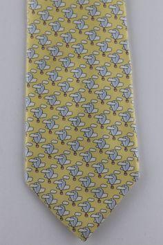 Robert Talbott Yellow Hounds-Tooth Spanish Bay Solid Best of Class Tie