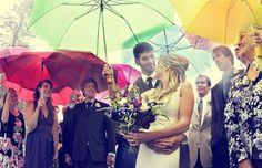 colorful wedding umbrellas  | Rainy wedding | ombrelli colorati | Sposa bagnata...sposa fortunata! http://theproposalwedding.blogspot.it/ #rain #rainy #wedding #fall #autumn #umbrella #autunno #pioggia #matrimonio #ombrello #stivali #boots