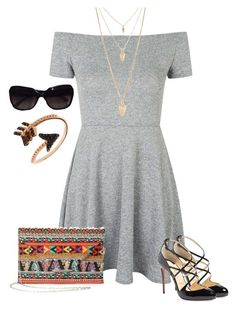 """""""79 - Dreaming"""" by londonxx ❤ liked on Polyvore featuring Topshop, Christian Louboutin, Chanel, Bee Goddess and Forever 21"""