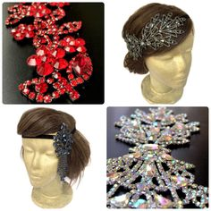 ❤️ Highlight your glamour look with our sparkling rhinestone headpiece of diffferent palette/tone.  Check it out at our shop www.curtainroad.etsy.com