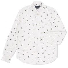 Paul Smith Men's Shirts - Off-White Banana Print Shirt