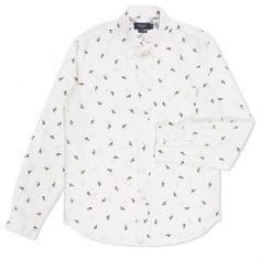 Paul Smith Men's Shirts - Off-White Banana Print Shirt