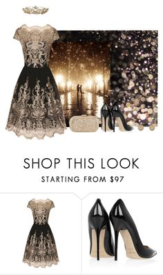 """""""Night Princess"""" by perlablu26 ❤ liked on Polyvore featuring Chi Chi, Jimmy Choo, River Island, women's clothing, women, female, woman, misses and juniors"""