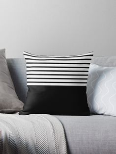 'Abstract black triangles design' Throw Pillow by BHP STORE Throw Pillows Bed, Bed Throws, Diy Pillows, Throw Pillow Covers, Floor Pillows, Decorative Throw Pillows, Cushions, Black And White Furniture, Triangle Design
