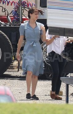On the set of Hunger Games - I love that dress