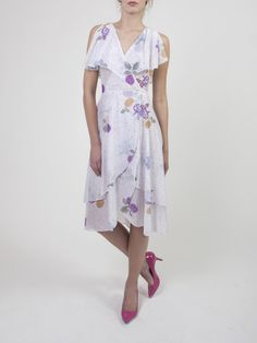 Think Olivia Newton John at an Easter Brunch ~ Yeah that's perfect for this wrap dress.