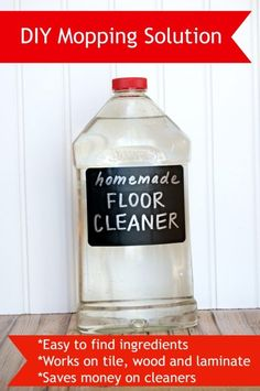 Make your floors sparkle and shine with this homemade mopping solution. Homemade floor cleaner works great on tile, laminate and wood flooring.
