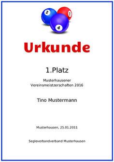 Beispiel: Muster-Urkunde-Welle-Blau | Urkunden | Pinterest