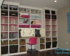 love how all the bins and baskets fit the shelves and all the way to the ceiling.  great use of space