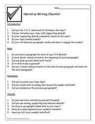 Narrative-Writing-Checklist