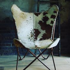 Cowhide Furniture, Butterfly Chair, Home Decor, Decoration Home, Room Decor, Home Interior Design, Home Decoration, Folding Chair, Interior Design