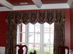 Squire Valance over Panels in Dining Room