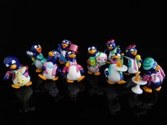 Vintage Toys Collectible stock Dow Jones Index Happy Hippo Penguin Cake Toppers, Penguin Cakes, Tennis Gifts, Scrooge Mcduck, Pearler Beads, Cookies And Cream, Blue Bird, Vintage Toys, Create Yourself