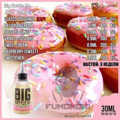 Discover Your Ejuice ! - The Vape Generation Diy Vape Juice, Vape Facts, E Juice Recipe, Clone Recipe, Big Bottle, Donut Glaze, Vanilla Custard, Donuts, Jelly