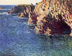 Grotto of Port-Domois by Claude Monet in oil on canvas, done in Now in a private collection. Find a fine art print of this Claude Monet painting. Monet Paintings, Impressionist Paintings, Claude Monet, Pond Painting, Clark Art, Large Canvas Prints, Contemporary Abstract Art, National Gallery Of Art, Museum Of Fine Arts
