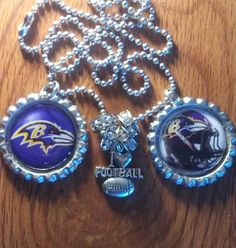 Baltimore Ravens bottle cap necklace by LegacySportsJewelry on Etsy