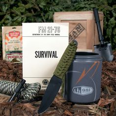 Outdoor Survival Crate---it's called a man crate but I really want one! Birthday gift?!?