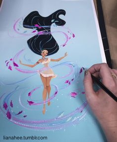 """Colors-13x19 Windsor and Newton gouache paint on Arches Watercolor Block My sketches and work in progress shots for my """"Colors of the Wind"""" painting for the Disney Wonderground Gallery. This piece..."""