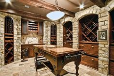 Awesome wine cellar!