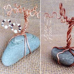 These lovely trees make a good home for your earrings & rings.