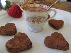 Nutella Hot  Chocolate Hearts