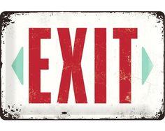 Blechschild Exit 20x30 cm bei HORNBACH kaufen