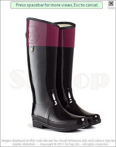 Hunter Regent Carlyle Boots in Very Berry!