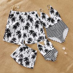 Mosaic Coconut Tree Anchor Mommy and Me Swimwear Mosaik-Kokosnussbaum-Anker-Mama und ich Badebekleidung Mommy And Me Outfits, Kids Outfits, Cute Outfits, Summer Bathing Suits, Girls Bathing Suits, Mommy And Me Swimwear, Cute Swimsuits, Matching Family Outfits, Baby Outfits Newborn