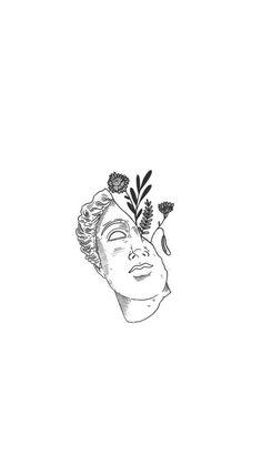 Ideas Wallpaper Preto E Branco Desenho Tattoo Sketches, Tattoo Drawings, Art Sketches, Art Drawings Beautiful, Cute Drawings, Tattoo Avant Bras, Architecture Drawing Sketchbooks, Architecture Tattoo, Minimalist Drawing