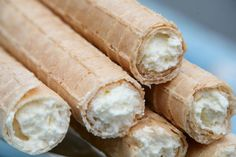 Rurki z kremem-waffle tubes with cream, słodki smak dzieciństwa.