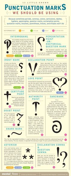 Little-Known Punctuation Marks for National Punctuation Day. Interesting! There IS a way to note other meanings in writing!