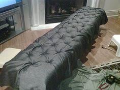 Diy tufted bench/ottoman