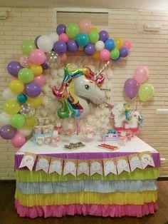first birthday high chair Unicorn Birthday Decorations, Unicorn Themed Birthday Party, Unicorn Birthday Parties, First Birthday Parties, Birthday Party Themes, First Birthdays, Rainbow Unicorn Party, Rainbow Birthday, Pony Party
