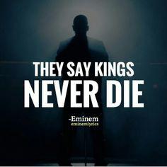 Eminem - kings never die ft gwen stephani Eminem Funny, Eminem Rap, Eminem Quotes, Music Quotes, Quotable Quotes, The Eminem Show, The Real Slim Shady, Yelawolf, Hip Hop Quotes