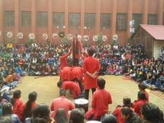 """street play by srcc college in """"reverie 14"""""""