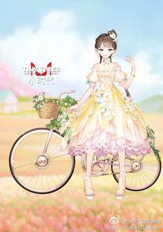 堆糖-美好生活研究所 Manga Clothes, Drawing Clothes, Magna Anime, Cartoon Photo, Anime Dress, Girls Characters, Kawaii Girl, Fantasy Girl, Anime Outfits