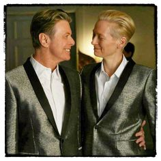 "David Bowie & Tilda Swinton on the set of The Stars (Are Out Tonight) From the official music video for the song ""The Stars (Are out tonight), premiered on 25 February 2013. Made by Canadian director Floria Sigismondi. With Tilda Swinton as his wife. The song serves as the second single from his twenty-forth studio album ""The Next Day""."