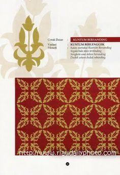MOTIF KUNTUM BERSANDING  (Melayu Riau) Motif Design, Pattern Design, Corel Draw Design, Ornament Drawing, Batik Art, Batik Pattern, Invitation Cards, Wedding Cards, Dan