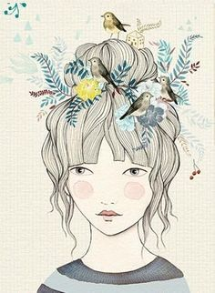 Cuando las mariposas se apolillan: Con la cabeza a pájaros Painting Inspiration, Art Inspo, Arte Sketchbook, Art Et Illustration, Whimsical Art, Painting & Drawing, Illustrators, Photo Art, Art Projects