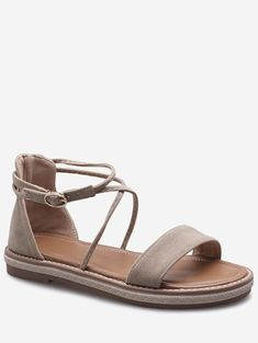 Plus Size Cross Strap Casual Dating Buckle Strap Sandals