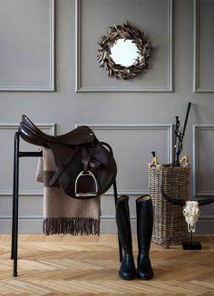 Equestrian style interiors / grey walls | Zara Home