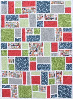 Jack's Blocks a PDF Quilt Pattern Crib Throw di aBrightCorner