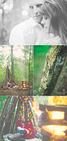 Shooting through campfire