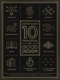 dieter rams' 10 principles of good design poster. Gerren Lamson. http://dribbble.com/shots/1286872-10-Principles-of-Good-Design-Poster/attachments/178367