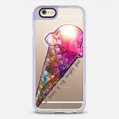Ice cream is my comfort food - New Standard iPhone 6/6s #Protective Case in Lavender Violet by @famenxt #phonecase | @casetify