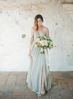 6e1964a9a630 Wedding Signature Drink Inspiration: Peach Shrub and Sage Cocktail Off  Shoulder Bridesmaid Dress, Long