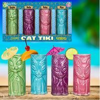 Why bother leaving the comfort of your own home (and cats) when you can shake things up at home with our Cat Tiki Mugs! They'll make a great addition to your next Tiki Purr-ty! No kitten! Most Tiki