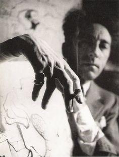 """© André Papillon, Portrait of Jean Cocteau. """"What the public criticizes in you, cultivate."""" - Jean Cocteau S) Man Ray, Foto Portrait, Portrait Photography, Distortion Photography, Men Portrait, Dark Portrait, Photography Tips, Street Photography, Landscape Photography"""