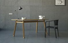 Simple table and chair.